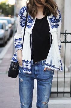 Fashion and style: Embroidered jacket