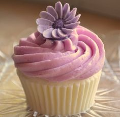 AJs Cupcake Factory Soap - Lavender Blooms Vegan Novelty Cupcake Soap via Etsy