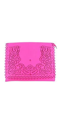 Pink Laser Cut Clutch