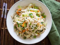 Chilled Asian Chicken Noodle Salad recipe for summer
