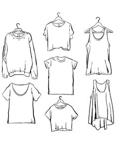 Off Sale Vector Woman clothing set outline clipart commercial use, vector graphics, digital clip art, digital images (EPS, JPG) - Source by - Fashion Design Drawings, Fashion Sketches, Drawing Fashion, Fashion Sketchbook, How To Draw Shirts, How To Draw Clothes, Shirt Drawing, T Shirt Sketch, Pants Drawing