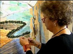 Video of fiber artist Merle Axelrad Serlin - talking about and making her aerial landscape fabric collages.