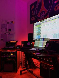 If you make music, show us how and where you do it! Be it a bedroom studio, professional studio, or kitchen table - takes all kinds. Home Recording Studio Setup, Home Studio Setup, Music Studio Room, Dream Studio, Studio Table, Creative Audio, Home Theater Room Design, Home Music Rooms, Gaming Room Setup