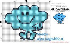 Mr. Daydream (Mr. Men) cross stitch pattern - free cross stitch patterns