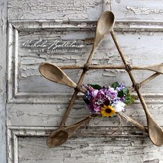 Rustic Spoon Star a Kitchen Witch Pentagram with Tutorial - Nichola Battilana pixiehill.com