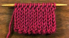 Example of the Double Knit Fabric Stitch (Right Side)