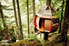 After failing to retire at age 26, former IT guy and now carpenter Joel Allen built the HemLoft, a small egg shaped tree house in the backwoods of Whistler, British Columbia, Canada.
