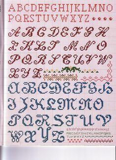 Cross-stitch #alphabet #monogram #abc's