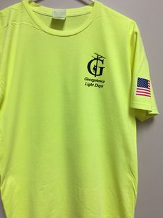 Georgetown light department printed left chest logo and printed flag on sleeve