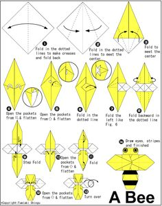 Bug Origami: Bee | Paper Origami
