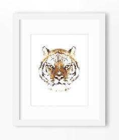 Tiger Print, Tiger Art, Tiger Wall Print, Geometric Tiger Print, Wall Print, Polygonal Tiger Print, Tiger Face, Geometric Tiger, Tigers