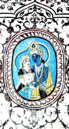 Fresco in the Samode Palace, Zenana: http://goo.gl/OkwLH3
