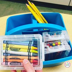 Michelle Griffo Schrock On Instagram: U201c💡Crayon Storage Solution💡  @asmilingteacher Tossed The