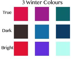 From where I stand today, these are the colours that I expect to be beautiful on most everyone of these colouring types, or Seasons.