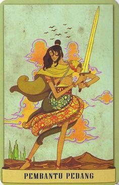 page of swords - Tarot Nusantara