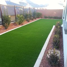 Artificial Turf & Concrete Border - Cacti Landscapes Las Vegas Landscaping iDeas Crafts For Kids ?