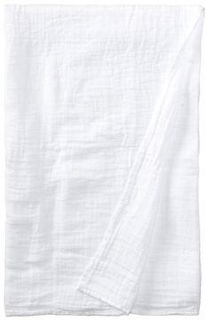 Amazon.com: i play. Unisex-Baby Newborn Organic Muslin Swaddle Blanket, White, One Size: Clothing