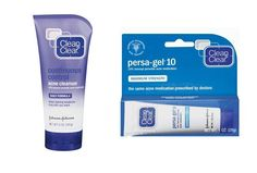Clean & Clears Persa-Gel 10, which boasts 10 percent BP as its active zit-banishing ingredient. And while I occasionally use it as a spot treatment, I often just slather a thin layer across my whole face before bedtime. The two downsides to this product? It bleaches all fabrics it comes into contact with—towels, sheets—so you may want to switch to white linens before you start using it.