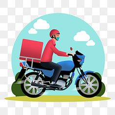 Delivery Man, Pizza Delivery, Boys Mountain Bike, Bike Drawing, Chibi Boy, Food Poster Design, Blue Mask, Carnival Masks, Graphic Design Templates