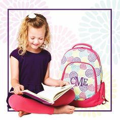 School may be out, but these new cute backpacks are in! And they're on SALE now! #mintjulepmonograms #monogram http://mintjulepmonograms.com/academy-backpack.html