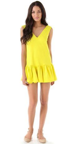 love this yellow -- Three Floor Flare Dress -- shopbop.com