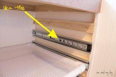 DIY Built-in Laundry Drying Racks at Me and My DIY