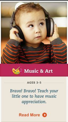 Try this tip to expose your preschooler to musical performances. Click for details. #MusicandArt
