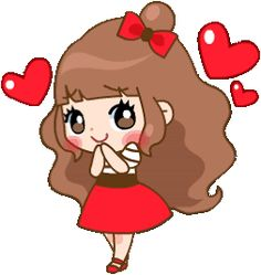 Cute Love Pictures, Cute Cartoon Pictures, Cute Love Gif, Love Is Cartoon, Cute Love Cartoons, Girl Cartoon, Love Smiley, Emoji Love, Animated Love Images