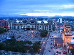 Guatemala City - Main square with the National Palace