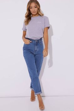 Discover the latest womens summer tops at In The Style. Polka Dot T Shirts, Tee Shirts, Slogan Tee, Basic Outfits, Long Shorts, Boyfriend T Shirt, Summer Tops, Latest Fashion For Women, Shirt Sleeves