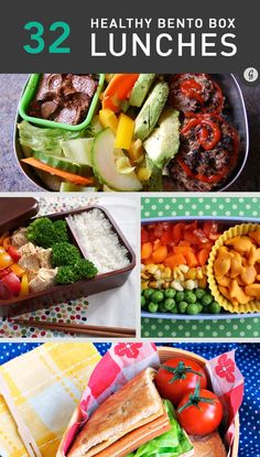 32 Healthy and Photo-Worthy Bento Box Lunch Ideas / Compartmental lunches can actually be appetizing, healthy, and appea Lunch Snacks, Lunch Recipes, Healthy Snacks, Healthy Eating, Cooking Recipes, Healthy Recipes, Box Lunches, School Lunches, Bento Lunchbox