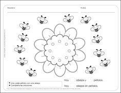 Fichas para preescolar: ¡Dos fichas con la primavera encima!