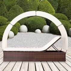 155£ #Sun#Lounger#Day#Bed#Patio#PolyRattan#Recliner