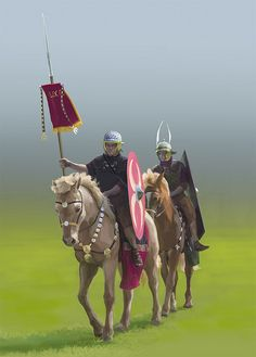 Roman Cavalry on Flickr.photoshop painting Fossfor 2012