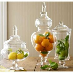Kitchen decoration. You see these being used as center pieces for holidays but never for the kitchen