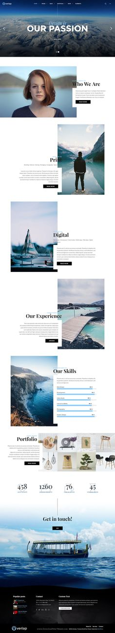 Web:Overlap comes with unique layout designs for showing your creative portfolios, this WordPress theme includes smart theme options so you can easily customize every aspect of your site with just a few clicks. #creative #studio #website