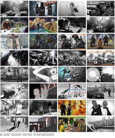 Collection of storyboards for films, advertising, and music videos. #film #filmphotography #sequence #movies #moviescene #moviescenes #makingmovie #makingfilm #moviemaking #storyboard #artist #storyboarding #storyboards #drawing #drawings #films #filmdirector #director #filmcrew #filmmaking #filmmaker #preproduction #conceptart #filmproduction #illustrator #illustration Storyboard Film, Storyboard Artist, Film Director, Film Photography, Filmmaking, Storytelling, Comic Art, Concept Art, Music Videos