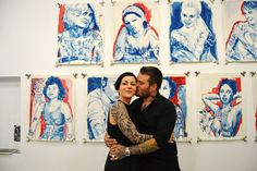 Vernissage - Tattoo Portraits_Pepe Mina Von B whit Pepe 18/09/2015