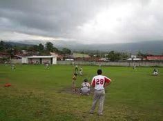 El partido de béisbol en costa rica