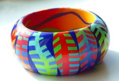 bangle-25 |  by Bridget Derc. She says she was inspired by the quilt work of Melody Johnson.