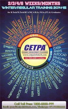 For mechanical students 'CETPA' has organised CREO training i.e. a very vital aspect to gain solid knowledge on CAM/CAD software and develop innovative design