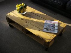 Discover hundreds of pallet coffee table ideas & projects! Build your own coffee table with pallet wood and make it unique to fit your home and budget!