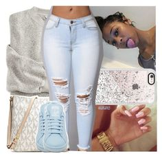 """don't judge me x chris brown"" by lamamig ❤ liked on Polyvore featuring Color Club, Casetify, MICHAEL Michael Kors and adidas"