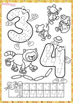Numbers handwriting sheets for kids Handwriting Activities, Preschool Learning Activities, Preschool Printables, Preschool Lessons, Preschool Worksheets, Kindergarten Math, Math Lessons, Preschool Activities, Teaching Kids