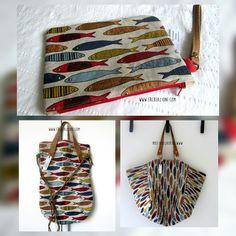 Pesce d'Aprile....borse in lino, made in Italy by ERcreazioni