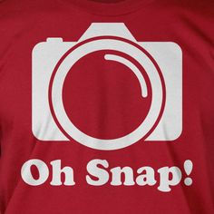 Funny Digital Film Camera Gifts for Photographers Photography T-Shirt - Oh Snap Tee Shirt T Shirt Geek Mens Ladies Womens Youth Kids on Etsy, $14.99