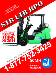 Whether it's short-term rental (STR), long-term rental (LTR), or rental purchase options (RPO) your best bet has got be SCMH. Beyond its newly acquired brand new fleet that is sure to boost any warehouse operation, is its 75 years of experience in providing reliable and prompt service to its customers. If you need it quick and done the right way, call SCMH Rental Solutions at 1-877-752-3425 now and consider it done! For more details visit…