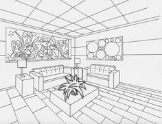 Beautiful 2 Point Perspective. Point PerspectivePerspective DrawingInterior ... Part 5