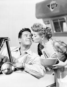 """mariedeflor: """" Lucille Ball and Desi Arnaz, 1953 """""""