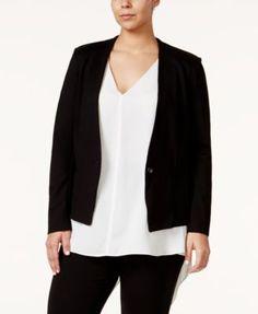 RACHEL Rachel Roy Curvy Plus Size Ponte Blazer
